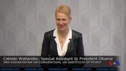 Celeste Wallander, President Obama's Special Assistant, speaks at Kazakhstan-US Convention