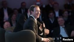 Facebook CEO Mark Zuckerberg speaks at the Axel Springer Award ceremony in Berlin, Feb. 25, 2016.