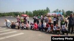 访民在南昌要求释放公民屠夫吴淦 (博讯图片)