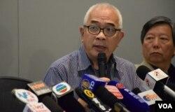 時事評論員程翔表示,《基本法》的初衷是要將30多年前,中共對香港的政治承諾,以法律的形式寫下來。(美國之音湯惠芸)