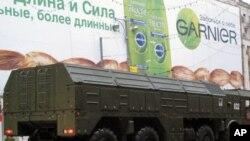 被部署在远东地区的俄罗斯伊斯康德尔战术导弹运载车