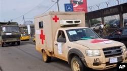 利比里亞派出軍方醫療車輛防備