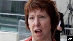 Bà Catherine Ashton, người đứng đầu chính sách đối ngoại của Liên hiệp Châu Âu.