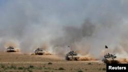 以色列坦克從加沙返回以色列