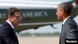 Рик Перри и Барак Обама