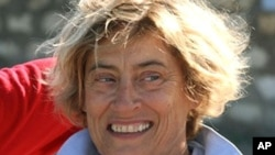 Frenchwoman Marie Dedieu died in captivity of Somali kidnappers, undated file photo.
