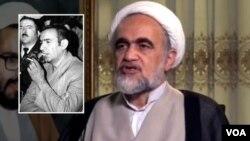 عکسی از «سید مهدی هاشمی» برادر داماد آیت الله منتظری که در دهه شصت اعدام شد، در کنار فرزند آیت الله منتظری