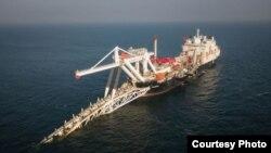 Участок прокладки трубопровода «Северный поток - 2» в Балтийском море, в водах Германии