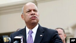 FILE - U.S. Homeland Security Secretary Jeh Johnson.