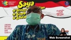 Direktur Promosi Kesehatan dan Pemberdayaan Masyarakat Kemenkes dr Imran Agus Nurali Sp.KO dalam telekonferensi pers di Jakarta, Jumat (17/2) menekankan Kemenkes mendukung penuh pengolahan limbah medis sesuai standar dari semua Fasyankes (Foto:VOA)