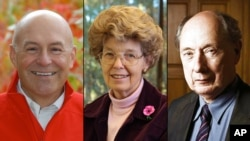 Robert T. Fraley, Mary-Dell Chilton y Marc Van Montagu ganadores del Premio Mundial de la Alimentación 2013. (Foto: AP/The World Food Prize Foundation)