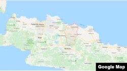 Subang, Jawa Barat. (Google map)