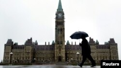 캐나다 오타와의 연방의회 건물 (자료사진)