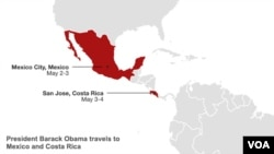 President Obama's trip to Mexico and Costa Rica.