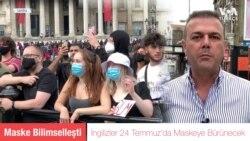 İngiltere'de Kapalı Mekanlarda Maske Zorunlu Olacak