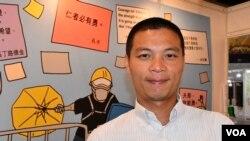 香港浸會大學新聞系高級講師呂秉權表示,反送中運動抗爭升級的主要原因是特首林鄭月娥不願意回應民間5大訴求。(美國之音湯惠芸拍攝)