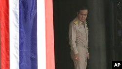 PM Thailand Prayuth Chan-o-cha tiba di rumah kepemerintahan di Bangkok, Thailand Senin (8/8).