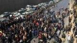 تصویر آرشیوی از اعتراضات در اصفهان پس از گرانی بنزین، پل ۲۵ آبان و اتوبان خرازی