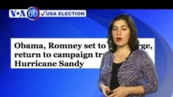 The candidates return to the campaign after Hurricane Sandy