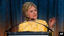 Hillary Clinton, récipiendaire du prix américain Heroes for Children, soutient le Fonds pour la santé des enfants, New York, 23 mai 2017.