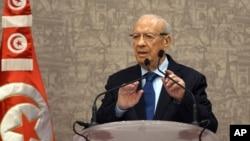 Tổng thống Tunisia Beji Caid Essebsi.