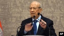 贝吉.卡伊德.埃塞卜西就任突尼斯新总统