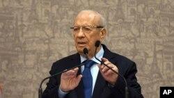 Presiden Tunisia, Beji Caid Essebsi (Foto: dok).