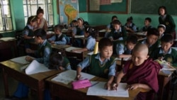 An English class at the Tibetan Children's Village School in Dharmsala, India, last May