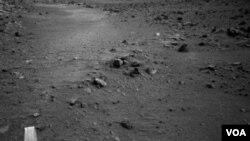 Spirit tomó esta imagen del terreno marciano el 27 de mayo del 2009.