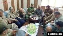 قاسم سلیمانی در دیدار با شبه نظامیان شیعه عراق