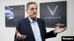 Vinfast's CEO Jim Deluca is seen during an interview at Vinfast factory in Hai Phong city, Vietnam September 25, 2018. Picture taken on September 25, 2018.