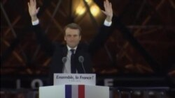 French President-Elect Emmanuel Macron and Wife Celebrate Historic Win
