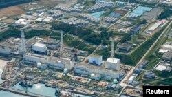 지난달 31일 촬영한 후쿠시마 제1원전과 오염수 저장탱크.