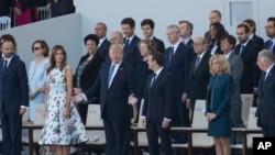 川普总统出席法国国庆活动