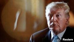 도널드 트럼프 미국 대통령이 29일 플로리다 마라라고 리조트에서 기자들에게 북한 문제 등에 관한 견해를 밝혔다.