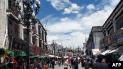 Một con đường ở Lhasa, Tây Tạng