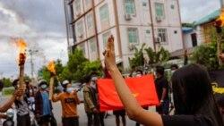 緬甸民眾為敏昂萊生日辦葬禮 美國宣布制裁緬甸新措施