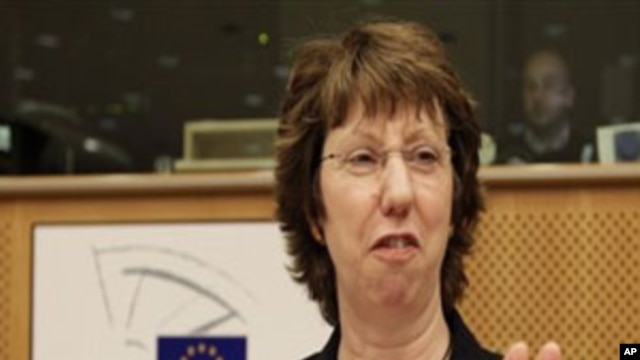 EU High Representative for Foreign Affairs Catherine Ashton attends a meeting on External Action Service, at the European Parliament in Brussels, 08 Nov. 2010