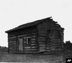 Here is a picture of President Abraham Lincoln's log cabin. (AP Photo)