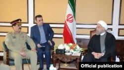 جنرل راحیل نے ہفتہ کو اسلام آباد میں ایرانی صدر سے ملاقات کی