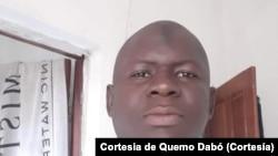Quemo Dabó, jornalista da Rádio Comunitária de Bafatá, Guiné-Bissau