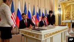 Από την υπογραφή της συμφωνίας από τους κυρίους Ομπάμα και Μεντβέντεφ