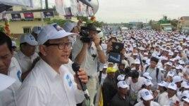 Ông Sam Rainsy là nhân vật đối lập nổi tiếng và được lòng dân nhất. Ðảng Cứu nguy Dân tộc đang trông đợi rằng sự hiện diện của ông sẽ biến thành thắng lợi tại phòng phiếu.