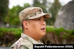 US-Thai army recruiter Nattapol Chaloyphian shared his combat experience as a veteran in Afghanistan after the U.S. withdrew its troops, ending the 20-year war.