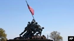 Đài tưởng niệm chiến tranh Thủy quân Lục chiến Hoa Kỳ ở Arlington, Virginia, ngày 29 tháng 4 năm 2015.