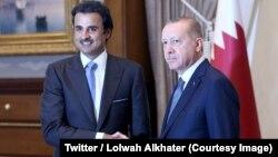 Serokê Tirkiyê R. T. Erdogan Û ŞêxTamim ben Hamad Al-Thani
