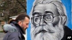 Mural sa likom Radovana Karadžića u Beogradu
