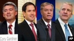 미국 공화당 소속의 코리 가드너, 마르코 루비오, 린지 그레이엄, 댄 설리반 상원의원. 이들은 3일 도널드 트럼프 대통령에게 공개서한을 보내고 북한의 완전한 비핵화 달성을 원한다면 최대 압박 정책을 당장 늘려야 한다고 촉구했다.