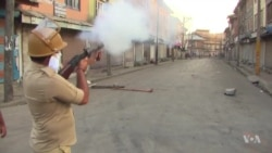 Pellet Guns Used Against Kashmir Protesters