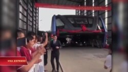 Trung Quốc thử nghiệm xe buýt chống tắc nghẽn giao thông